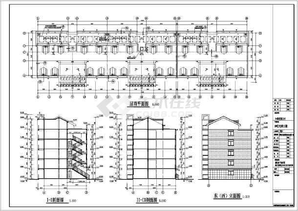 某小区五层带阁楼住宅楼建筑设计施工图图片2
