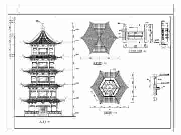 中国古代建筑图