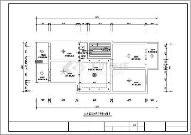 三室两厅装修设计全套图纸