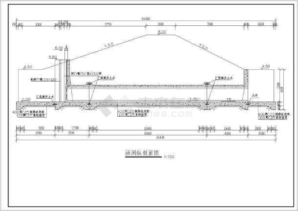 堤涵施工方案_某河道穿堤引水涵洞和排水涵洞施工图