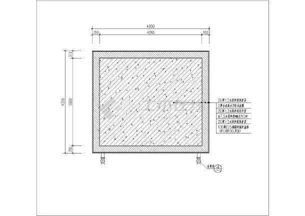 山顶蓄水池施工平面图剖面图节点详图
