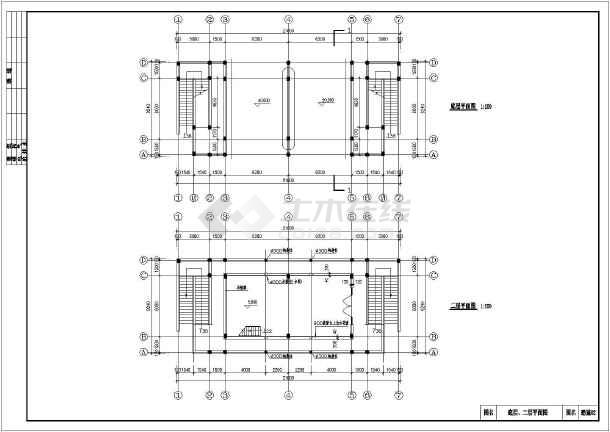 某地3层城际图纸仿古门楼建筑施工图_cad图纸框架结构快速路的至湘乡湘潭图片