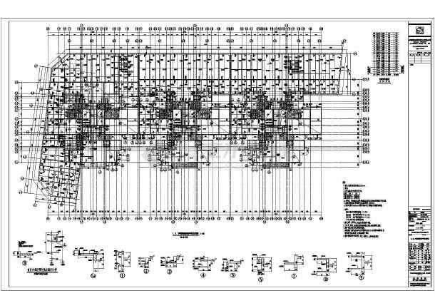 柱平法施工图、地下室顶板结构平 汽车坡道详图、自行车坡道详图. 图片