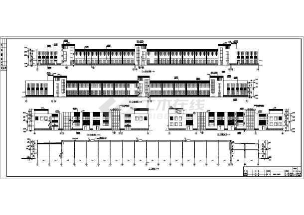 某公司两层工业厂房建筑设计施工图