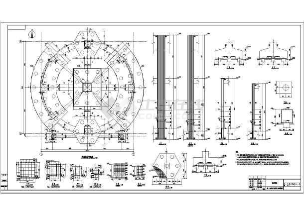 4500t混凝土单仓建筑结构图