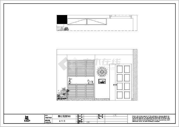 某简欧三室一厅装修设计施工图图