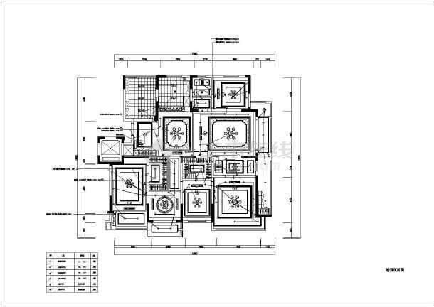 某小区家装室内水电设计图_cad图纸下载-土木在线