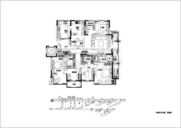 某小区家装室内水电设计图