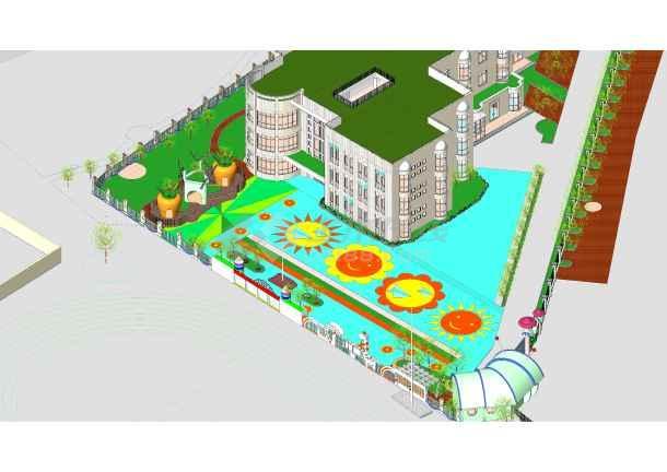 revit室外景观模型建筑效果图(非dwg文件)