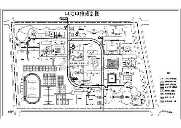 某地电信图例规划设计图纸图(包含阶梯)_cad图电气型电力图片