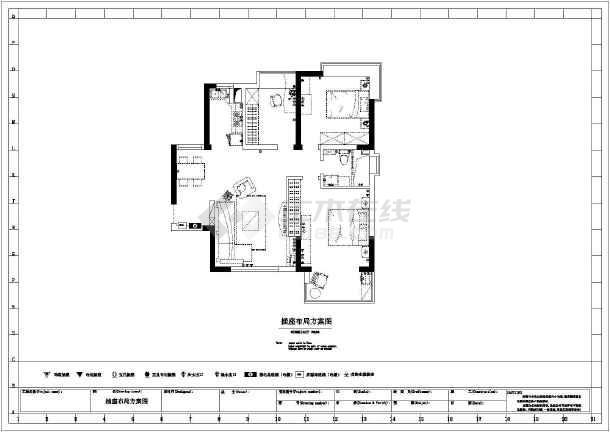 某两室一厅装修设计图纸 (全集)