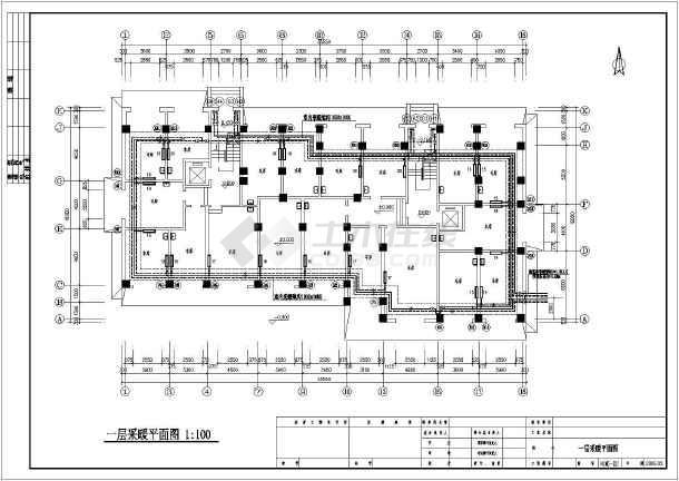 某小图纸住宅楼图纸设计采暖住宅(含户型)_ca图例公园徽派设计高层图片