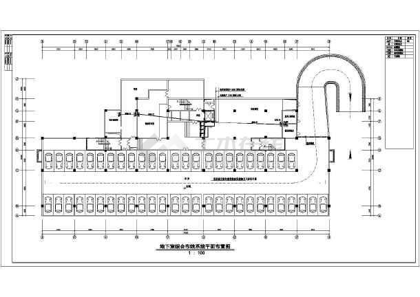 商贸大厦中心综合布线电气施工设计图图片1