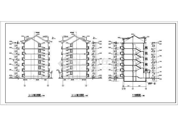 单元式多层住宅设计图纸-某多层住宅户型图cad图纸