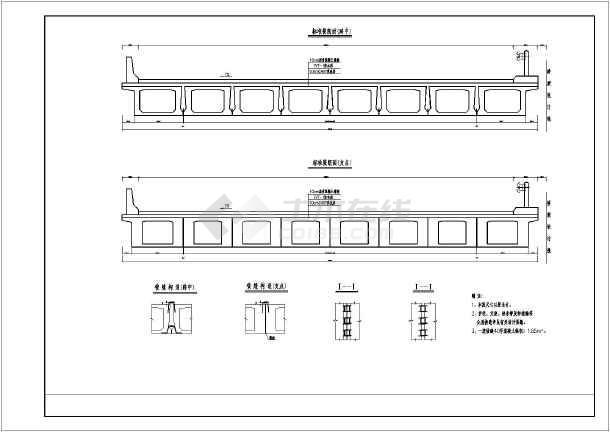 20米后张简支板结构钢筋图及辅助计算表图片3