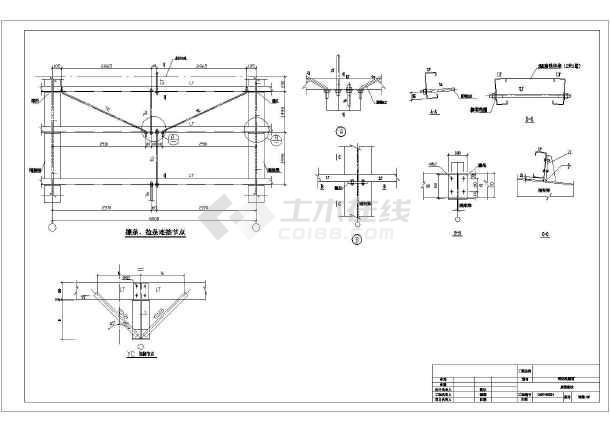 某地砼柱钢屋面单层厂房结构施工图
