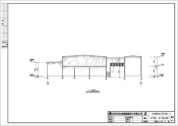 北京某小学两层钢框架结构设计施工图