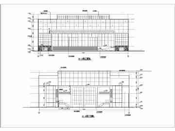 某地三层框架结构电影院建筑设计方案图
