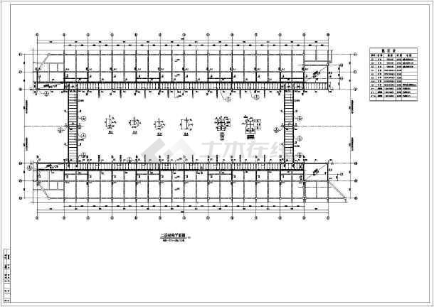 基础详图,各层结构平面图,楼梯详图,节点大样图,栏杆立面图,钢架图等.
