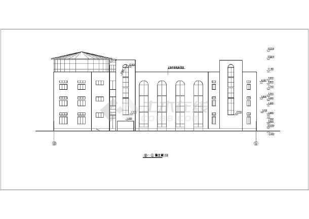 三层框架政府办公楼结构设计施工,该图纸包括:,建筑各层,屋顶平面图