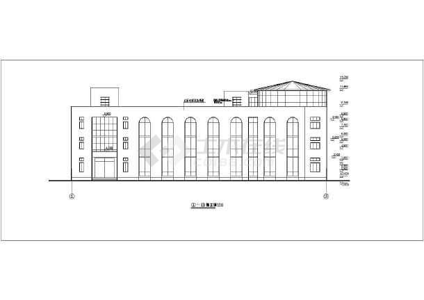 某地三层框架结构办公楼建筑结构设计施工图纸