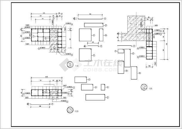 某8度区地下室钢筋混凝土剪力墙加固改造图纸医疗废物暂存工程房屋间设置图片