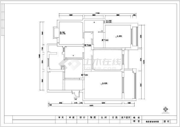 某地框架结构住宅装饰设计施工图纸