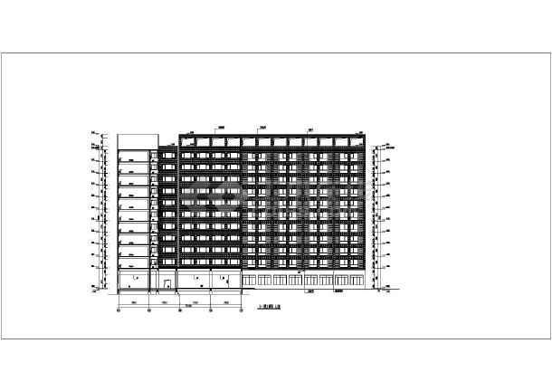 某公司11层框架结构职工宿舍楼建筑设计方案图