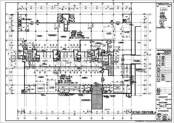 某小区单层地下人防地下车库建筑设计施工图_禁止吸烟cad图片