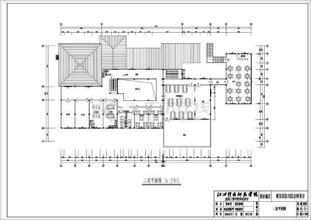 简介:南昌市某住宅小区会所建筑设计方案图,包括,总,一层平面图,二层