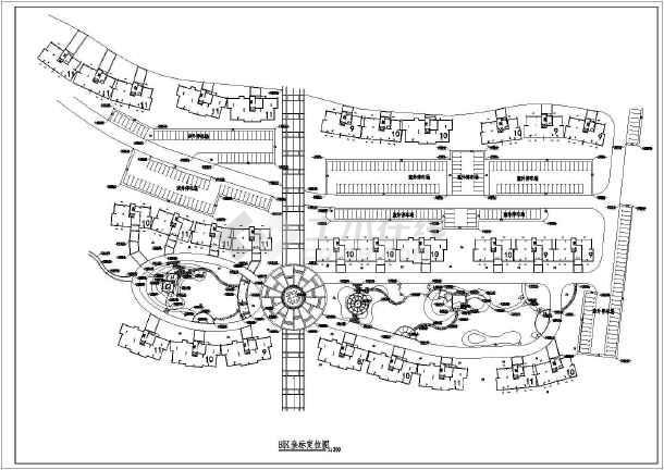 某住宅小区景观规划设计施工图纸 含总平面图图片