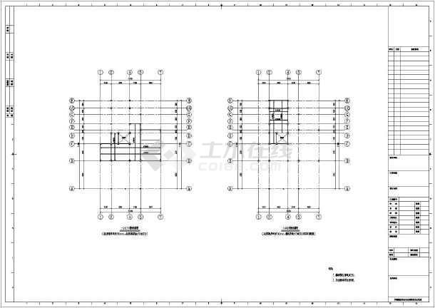 钢框架结构别墅,图纸包括:基础平面布置图,柱轴网布置图,梁板配筋图