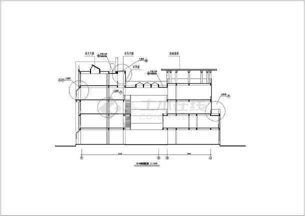 某地5层框架美术馆建筑设计方案图图片