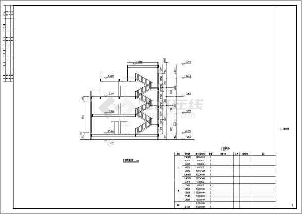 平屋面建筑构造 一_某地三层平屋顶别墅建筑设计方案图_cad图纸下载-土木在线