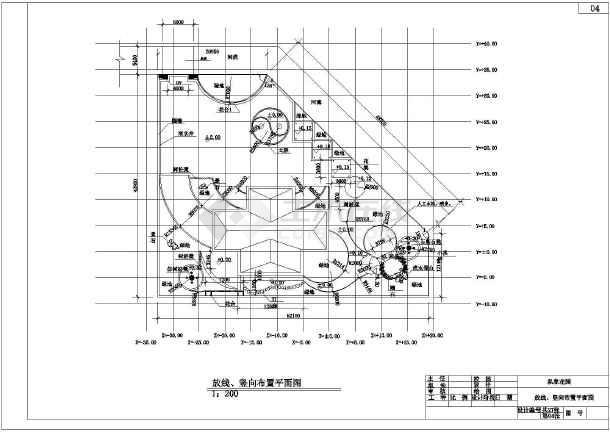某地区私家别墅庭院景观绿化设计施工图纸