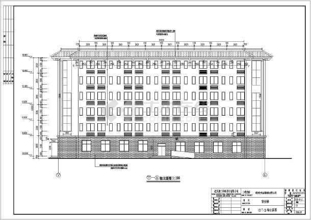 某地六层框架结构厂房宿舍楼建筑施工图
