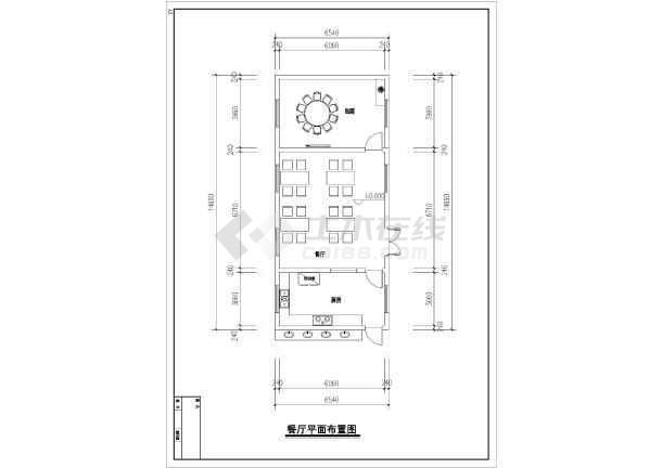 某售楼处总平面图及平面布局方案图