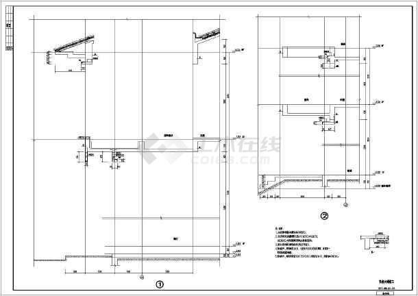 一套完整别墅(坡屋面)的结构施工图纸,图纸内容包括目录,说明,梁板图