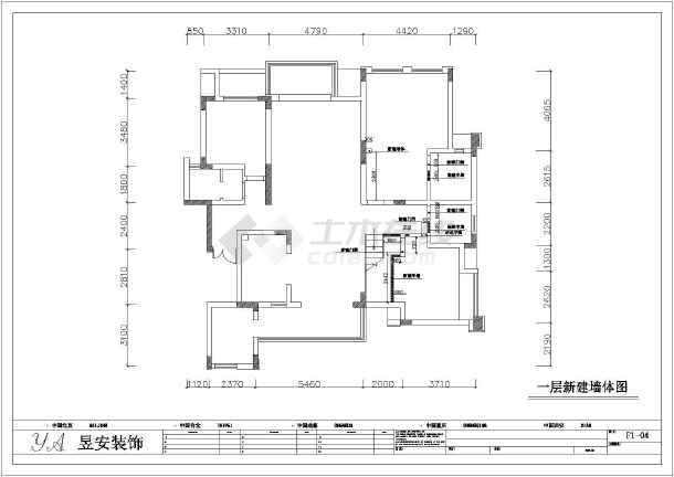 某外形别墅欧式小区的别墅装修施工图全套长二层图片