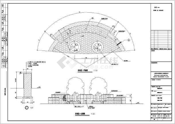 聊城市文化广场几个花池花坛设计施工图