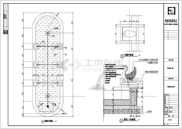 喷水池施工图喷水池施工喷水池设计水池水景设计小区施工图纸水池水塔