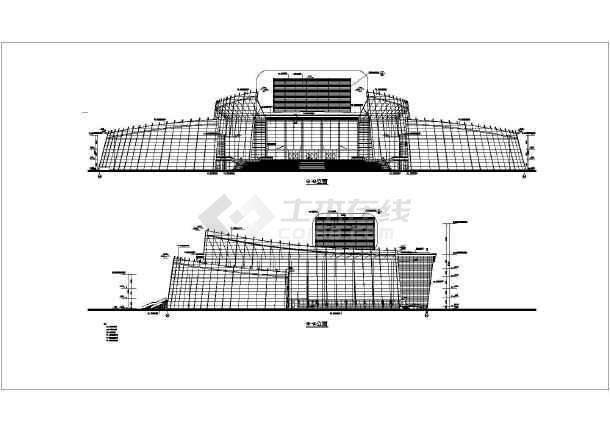 施工图  简介:   地下一层,地上五层,地上为歌剧院观众厅,大堂,舞台及
