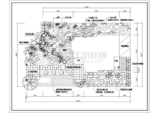 景观别墅庭院]上海某庭院景观别墅工程设计平迷你别墅设计图二层图片