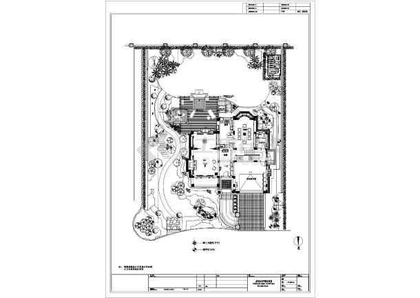 上海某别墅庭院景观工程设计平面图-图1