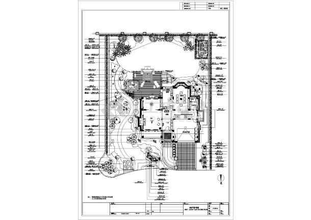 上海某别墅庭院景观工程设计平面图