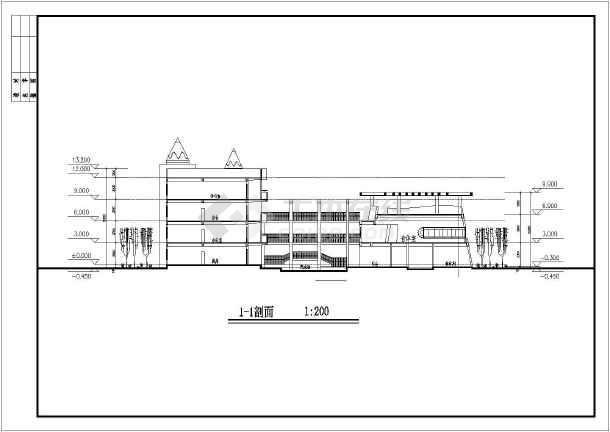 某地4层框架结构9班幼儿园建筑方案设计图纸