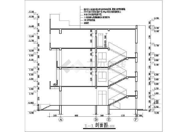 某中学教学楼建筑设计全套图_cad图纸下载10win什么版本cad图片