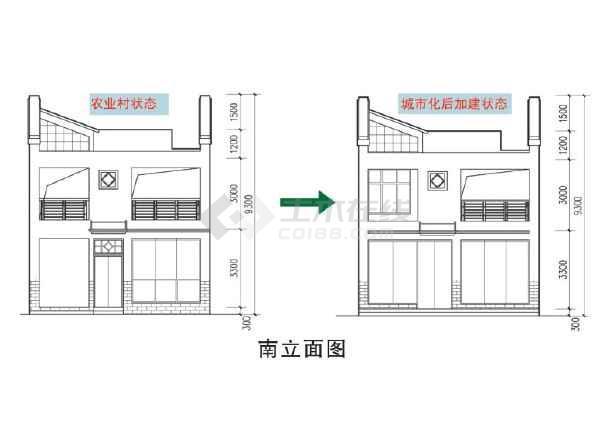 珠三角地区传统风格小户型新农村住宅设计图(非cad)