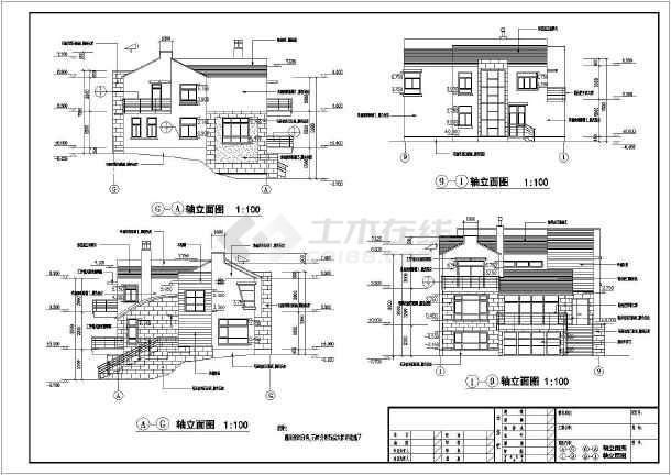 某三层别墅建筑设计图(长13.7米 宽11.3米)