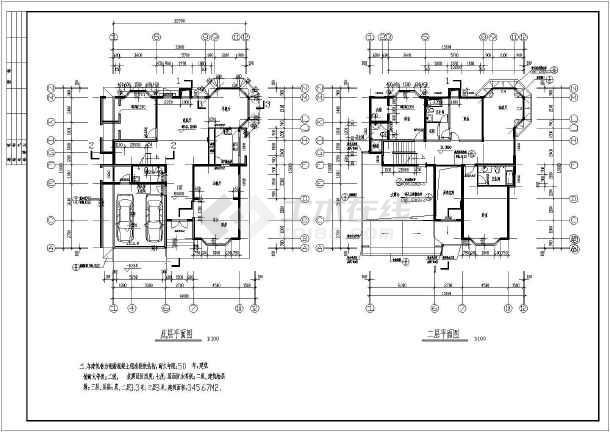 某三层别墅建筑设计图(长15.8米 宽14米)